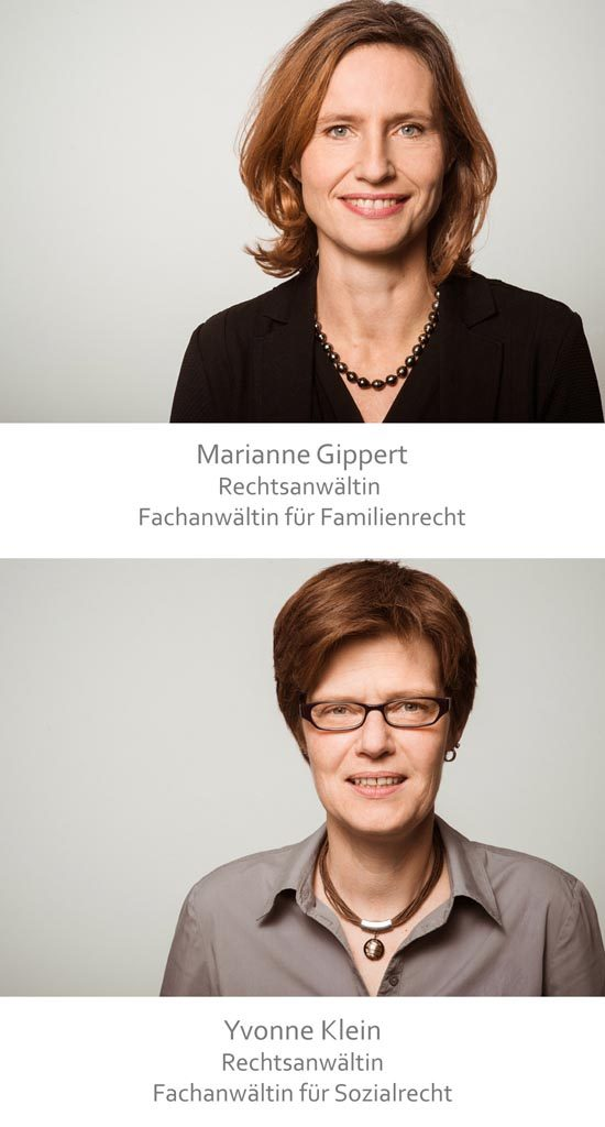 Rechtsanwältin Marianne Gippert und Rechtsanwältin Yvonne Klein
